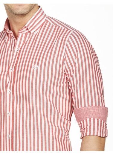 Bisse GM19Y91164 Uzun Kollu Yaka Düğmeli Spor Gömlek Kırmızı